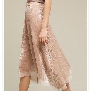 Anthropologie Eva Fraco Desert Sun Sequin Skirt 8